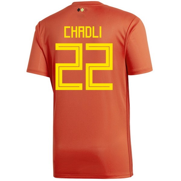 Maillot Belgica Domicile Chadli 2018 Rouge