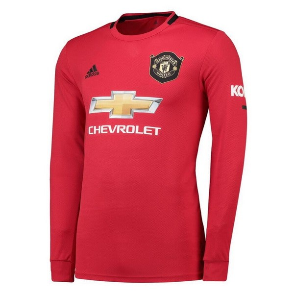 Maillot Manchester United Domicile ML 2019-20 Rouge