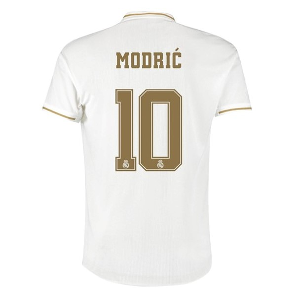 Maillot Real Madrid NO.10 Modric Domicile 2019-20 Blanc