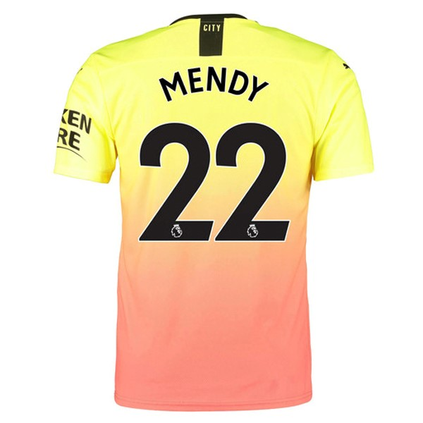 Maillot Manchester City NO.22 Mendy Third 2019-20 Orange