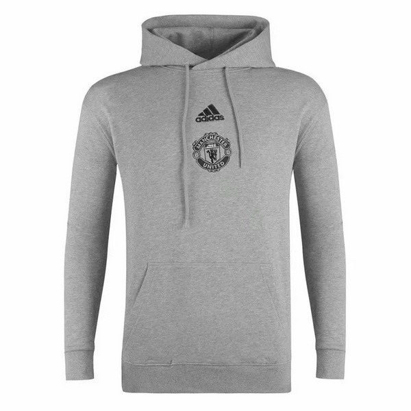Sweat Shirt Capuche Manchester United 2020-21 Gris