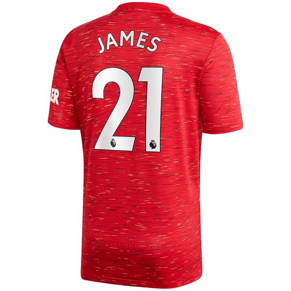 Maillot Manchester United NO.21 James Domicile 2020 2021 Rouge