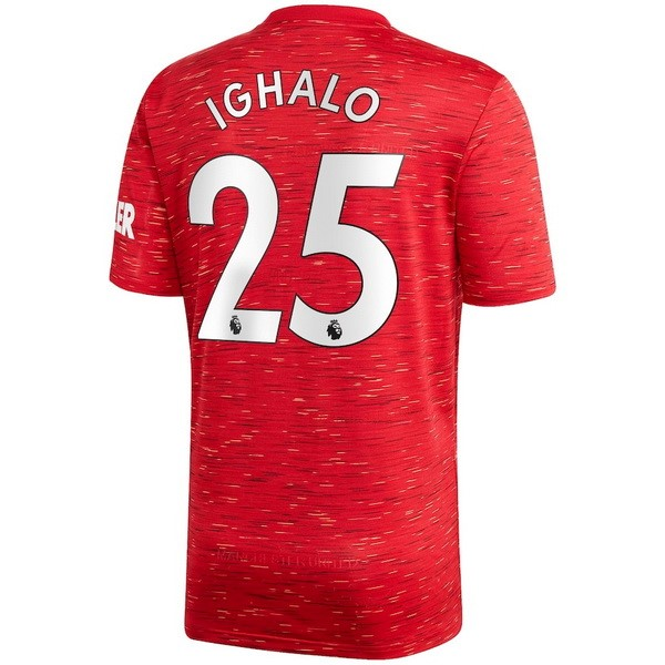 Maillot Manchester United NO.25 Ighalo Domicile 2020 2021 Rouge