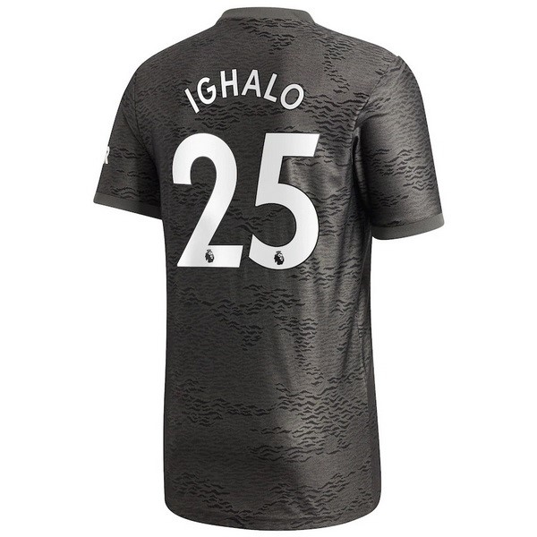 Maillot Manchester United NO.25 Ighalo Exterieur 2020 2021 Noir