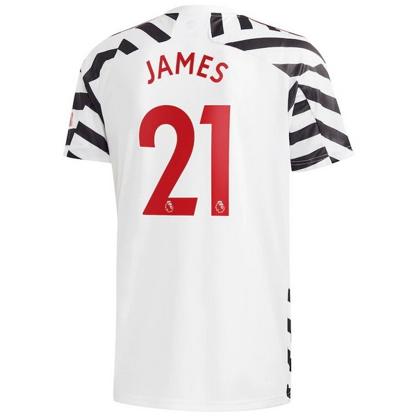 Maillot Manchester United NO.21 James Third 2020 2021 Blanc