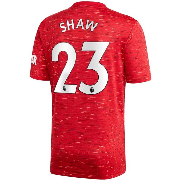 Maillot Manchester United NO.23 Shaw Domicile 2020 2021 Rouge