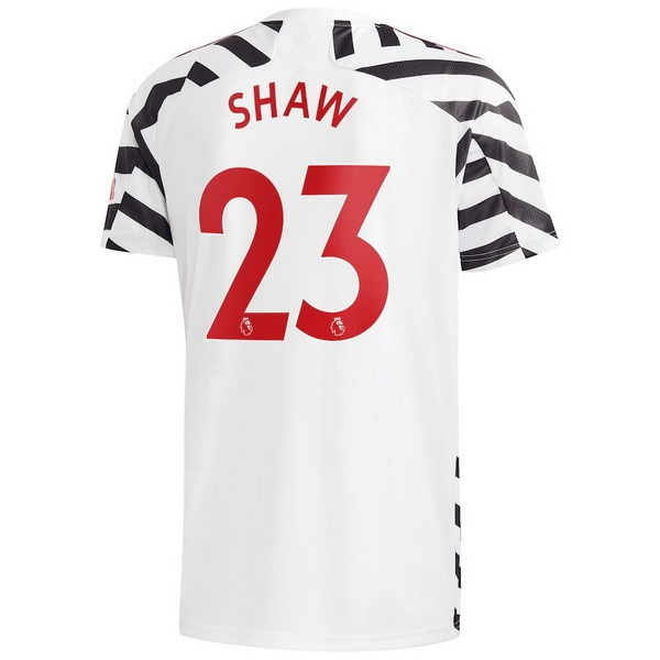 Maillot Manchester United NO.23 Shaw Third 2020 2021 Blanc