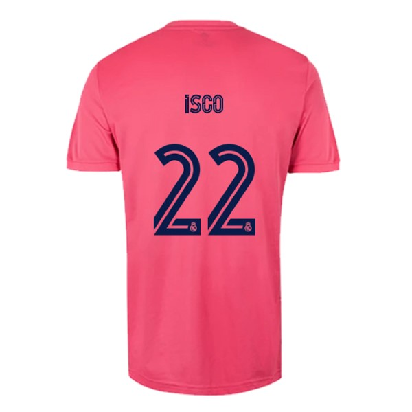Maillot Real Madrid Exterieur NO.22 Isco 2020 2021 Rose
