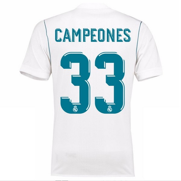 Maillot Real Madrid Domicile Campeones 2017-18