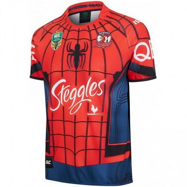 Maillot Sydney Roosters Spider Man 2017-18 Rouge